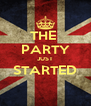 THE  PARTY JUST STARTED  - Personalised Poster A4 size