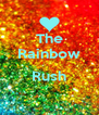 The Rainbow  Rush  - Personalised Poster A4 size