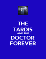 THE TARDIS AND THE DOCTOR FOREVER - Personalised Poster A4 size