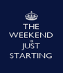 THE WEEKEND IS JUST STARTING - Personalised Poster A4 size