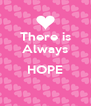 There is Always  HOPE  - Personalised Poster A4 size