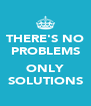 THERE'S NO PROBLEMS  ONLY SOLUTIONS - Personalised Poster A4 size