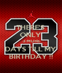 THERE'S ONLY  3 MORE DAYS TILL MY BIRTHDAY !! - Personalised Poster A4 size