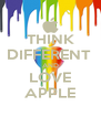 THINK DIFFERENT  AND LOVE APPLE - Personalised Poster A4 size