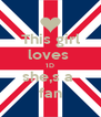 This girl loves  1D she,s a  fan - Personalised Poster A4 size