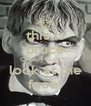 this is bruce Creepy huh???? look at the face! - Personalised Poster A4 size