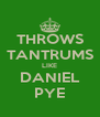 THROWS TANTRUMS LIKE DANIEL PYE - Personalised Poster A4 size