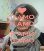 TI AMO TI AMO TI AMO TI AMO TI AMO - Personalised Poster A4 size