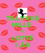 TILLYKKE MILLE  & LOTTE 1 ÅR - Personalised Poster A4 size