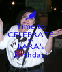 Time to CELEBRATE It's LARA's Birthday! - Personalised Poster A4 size