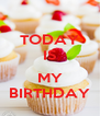 TODAY IS  MY BIRTHDAY - Personalised Poster A4 size