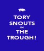 TORY SNOUTS IN THE TROUGH! - Personalised Poster A4 size