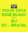 TOUR 2014 ESSE BUHO SOU EU SC - BRASIL - Personalised Poster A4 size