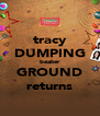tracy DUMPING beaker GROUND returns - Personalised Poster A4 size