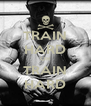 TRAIN HARD OR TRAIN HARD - Personalised Poster A4 size