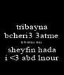 tribayna bcheri3 3atme kbirna ma  sheyfin hada i <3 abd lnour - Personalised Poster A4 size