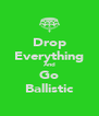 Drop Everything And Go Ballistic - Personalised Poster A4 size