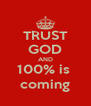 TRUST GOD AND 100% is  coming - Personalised Poster A4 size