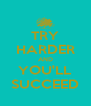 TRY HARDER AND YOU'LL SUCCEED - Personalised Poster A4 size