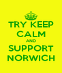 TRY KEEP CALM AND SUPPORT NORWICH - Personalised Poster A4 size