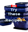 Try These  Recipes  - Personalised Poster A4 size