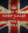 TRY TO KEEP CALM ITS ONLY PHILLZ - Personalised Poster A4 size