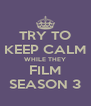 TRY TO KEEP CALM WHILE THEY FILM SEASON 3 - Personalised Poster A4 size