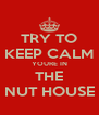 TRY TO KEEP CALM YOURE IN THE NUT HOUSE - Personalised Poster A4 size