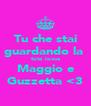 Tu che stai guardando la  foto lovva Maggio e Guzzetta <3 - Personalised Poster A4 size