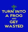 TURN INTO A FROG AND GET WASTED - Personalised Poster A4 size