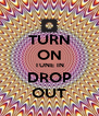 TURN ON TUNE IN DROP OUT - Personalised Poster A4 size
