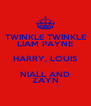 TWINKLE TWINKLE LIAM PAYNE HARRY, LOUIS NIALL AND ZAYN - Personalised Poster A4 size