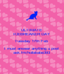 ULTIMATE ICEBREAKER DAY Tuesday 17th Feb I must answer anything u post ask.fm/hollababe393 - Personalised Poster A4 size