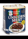 Unicorn Meat The best thing ever invented - Personalised Poster A4 size