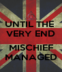 UNTIL THE  VERY END  MISCHIEF MANAGED - Personalised Poster A4 size