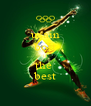 usain bolt is the  best - Personalised Poster A4 size