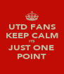 UTD FANS KEEP CALM ITS JUST ONE POINT - Personalised Poster A4 size