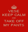 VESE KEEP CALM AND TAKE OFF MY PANTS - Personalised Poster A4 size