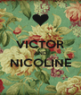 VICTOR AND NICOLINE  - Personalised Poster A4 size