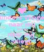 vlinders vliegen naar mij hoe jij naar mij  vliegt - Personalised Poster A4 size