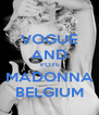 VOGUE AND VOTE MADONNA BELGIUM - Personalised Poster A4 size