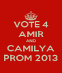 VOTE 4 AMIR AND CAMILYA PROM 2013 - Personalised Poster A4 size