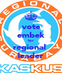 vote embek for regional  leader - Personalised Poster A4 size