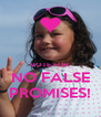 VOTE FOR NO FALSE PROMISES! - Personalised Poster A4 size