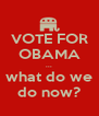 VOTE FOR OBAMA ... what do we do now? - Personalised Poster A4 size