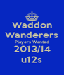Waddon Wanderers Players Wanted 2013/14 u12s - Personalised Poster A4 size