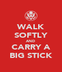 WALK SOFTLY AND CARRY A BIG STICK - Personalised Poster A4 size