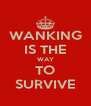 WANKING IS THE WAY TO SURVIVE - Personalised Poster A4 size