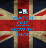 WATCH OUT JESS KNOWS HOW TO SHOP - Personalised Poster A4 size