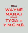 WAYNE MANAJ DRAKE TYGA = Y.M.C.M.B. - Personalised Poster A4 size